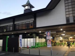 鎌倉駅東口にて駅頭