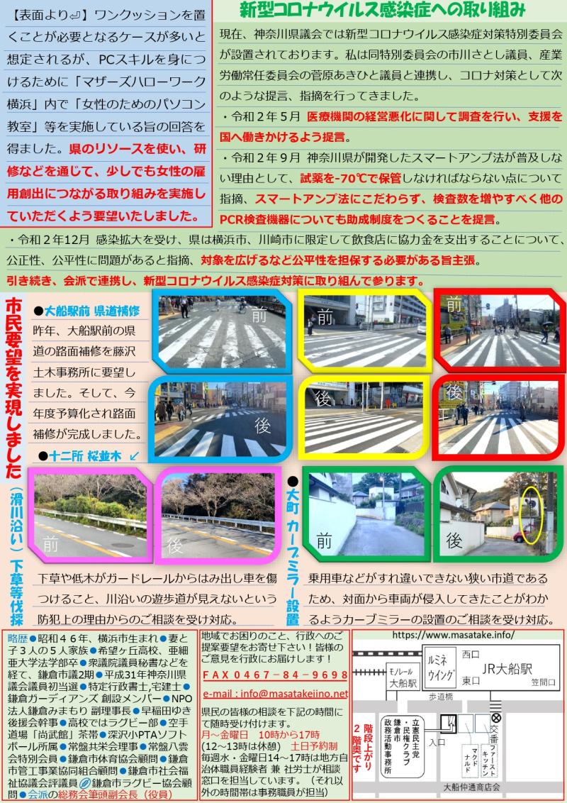 県政報告1・2月号表面